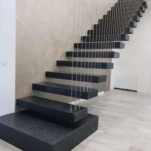 Szürke gránit lépcsők Steel Grey